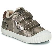Scarpe Bambina Sneakers basse Victoria HUELLAS  TIRAS Argento