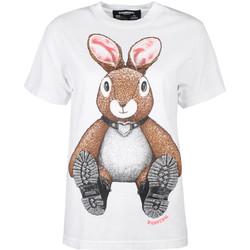 Abbigliamento Donna T-shirt maniche corte Domrebel  Bianco