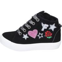 Scarpe Bambina Sneakers alte Fiorucci sneakers camoscio sintetico nero