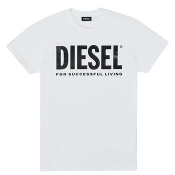 Abbigliamento Unisex bambino T-shirt maniche corte Diesel TJUSTLOGO Bianco
