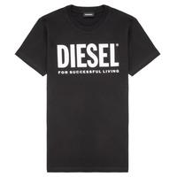 Abbigliamento Unisex bambino T-shirt maniche corte Diesel TJUSTLOGO Nero