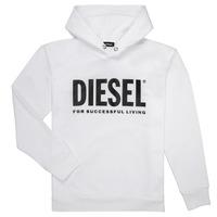 Abbigliamento Bambino Felpe Diesel SDIVISION LOGO Bianco
