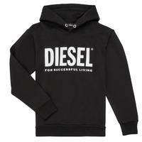 Abbigliamento Bambino Felpe Diesel SDIVISION LOGO Nero