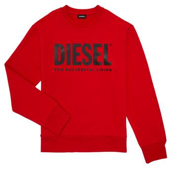 Abbigliamento Bambino Felpe Diesel SCREWDIVISION LOGO Rosso