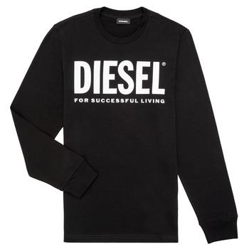Abbigliamento Bambino T-shirts a maniche lunghe Diesel TJUSTLOGO ML Nero