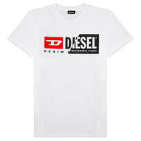 Abbigliamento Unisex bambino T-shirt maniche corte Diesel TDIEGOCUTY Bianco