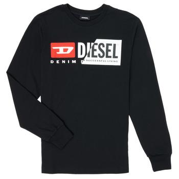 Abbigliamento Unisex bambino T-shirts a maniche lunghe Diesel TDIEGOCUTY Nero