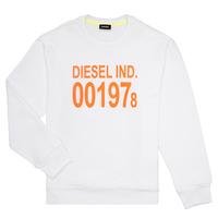 Abbigliamento Unisex bambino Felpe Diesel SGIRKJ3 Bianco