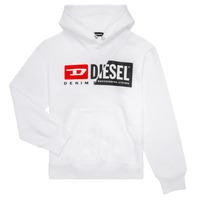 Abbigliamento Unisex bambino Felpe Diesel SGIRKHOODCUTY Bianco