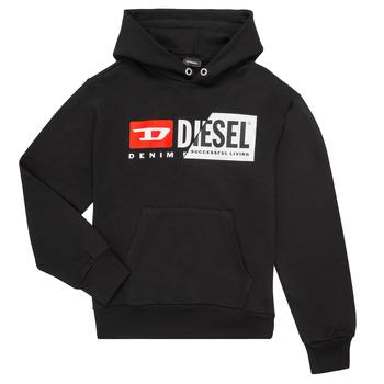 Abbigliamento Unisex bambino Felpe Diesel SGIRKHOODCUTY Nero