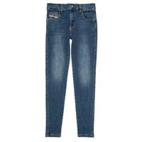 Abbigliamento Bambina Jeans slim Diesel D-SLANDY HIGH Blu