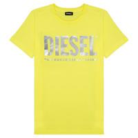 Abbigliamento Bambina T-shirt maniche corte Diesel TSILYWX Giallo