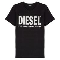 Abbigliamento Bambina T-shirt maniche corte Diesel TSILYWX Nero