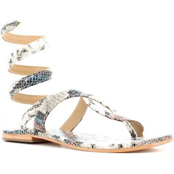 Scarpe Donna Sandali Cb Fusion scarpe donna infradito alla schiava CBF.R220001 PITONATO Pelle