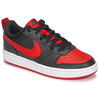Scarpe Unisex bambino Sneakers basse Nike COURT BOROUGH LOW 2 GS Nero / Rosso