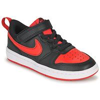 Scarpe Unisex bambino Sneakers basse Nike COURT BOROUGH LOW 2 PS Nero / Rosso