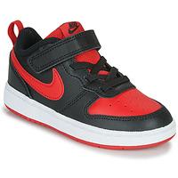 Scarpe Unisex bambino Sneakers basse Nike COURT BOROUGH LOW 2 TD Nero / Rosso