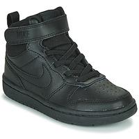 Scarpe Unisex bambino Sneakers alte Nike COURT BOROUGH MID 2 PS Nero