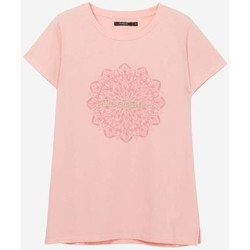 Abbigliamento Donna T-shirt maniche corte Desigual T shirt  Donna vTS_MANCHESTER 19SWTK41 rosa Rosa