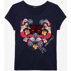 Abbigliamento Donna T-shirt maniche corte Desigual T shirt  Donna TS_NOA 19SWTKCW Blu