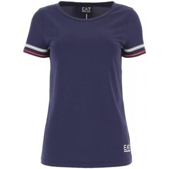 Abbigliamento Donna T-shirt maniche corte Emporio Armani EA7 T shirt  Donna 3GTT02 TJ28Z blu Blu