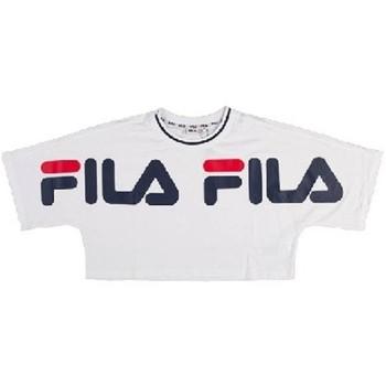 Abbigliamento Donna T-shirt maniche corte Fila Top corto  Barr Cropped Tee Donna Bianco Bianco