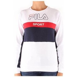 Abbigliamento Donna T-shirts a maniche lunghe Fila felpa Donna WOMEN MIKA crew sweat 682853 bianco Bianco