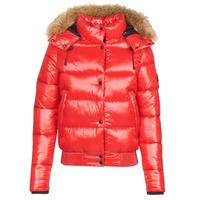 Abbigliamento Donna Piumini Superdry HIGH SHINE TOYA BOMBER Rosso