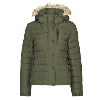 Abbigliamento Donna Piumini Superdry CLASSIC FAUX FUR FUJI JACKET Nero / Moss