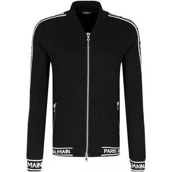 Abbigliamento Uomo Felpe Balmain Felpa zip RH08900 - Uomo nero