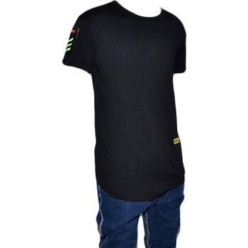 Abbigliamento Uomo T-shirt maniche corte Made In Italia T-Shirt slim  welcom freedom uomo colore NERO art FR098 Maniche NERO