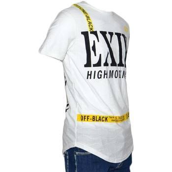 Abbigliamento Uomo T-shirt maniche corte Made In Italia T-Shirt maglietta NSD con collo rotondo e maniche corte con des BIANCO