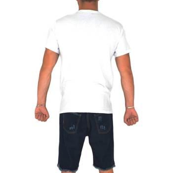Abbigliamento Uomo T-shirt maniche corte Malu Shoes T- shirt basic uomo in cotone bianco slim fit girocollo con cuc BIANCO