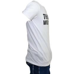 Abbigliamento Uomo T-shirt maniche corte Malu Shoes T-SHIRT MAGLIETTA CON COLLO ROTONDO E MANICHE CORTE CON DESIGN BIANCO