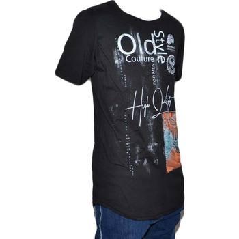 Abbigliamento Uomo T-shirt maniche corte Malu Shoes T-Shirt Uomo Girocollo nera Stampa Con Scritta vintage Casual S NERO
