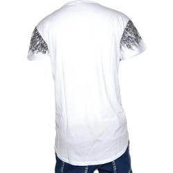 Abbigliamento Uomo T-shirt maniche corte Malu Shoes T-Shirt bicolore black e white  Modello con collo rotondo e man BIANCO
