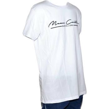 Abbigliamento Uomo T-shirt maniche corte Malu Shoes T-shirt bicolore white modello con collo rotondo e maniche cort BIANCO