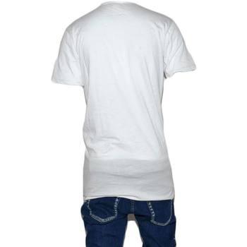 Abbigliamento Uomo T-shirt maniche corte Malu Shoes T-Shirt Maglia Maniche Corte Uomo Bianca Scollo con Bottoni Tin BIANCO