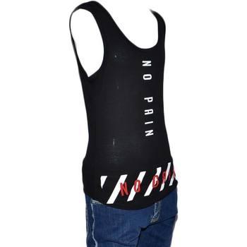 Abbigliamento Uomo Top / T-shirt senza maniche Malu Shoes Canotta Uomo Stampa Scritta No Pain No Gain Girocollo Giromanic NERO