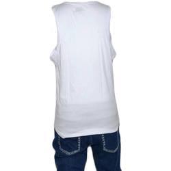 Abbigliamento Uomo Top / T-shirt senza maniche Malu Shoes Canotta uomo stampa scritta no pain no gain girocollo giromanic BIANCO