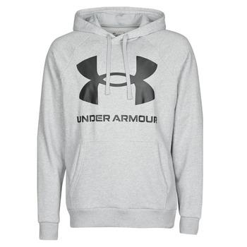 Abbigliamento Uomo Felpe Under Armour UA RIVAL FLEECE BIG LOGO HD Grigio / Clair