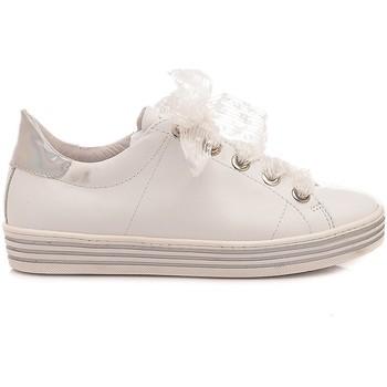 Scarpe Bambina Sneakers basse Ciao Sneakers Bambina Pelle Bianco C3942 bianco