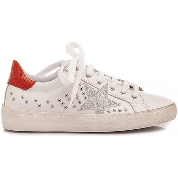 Scarpe Bambina Sneakers basse Ciao Sneakers Bambina Pelle Bianco-Rosso C3911 bianco, rosso