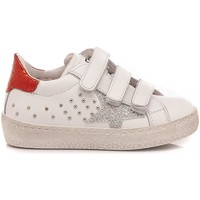 Scarpe Bambina Sneakers basse Ciao Sneakers Bambina Pelle Bianco-Rosso C2396 bianco, rosso