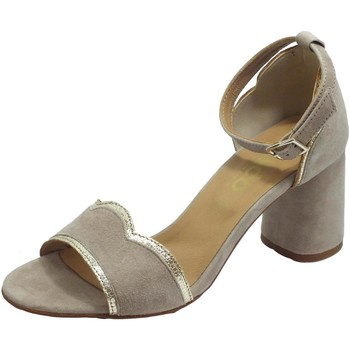 Scarpe Donna Sandali Igi&co Scamosc. Taupe Sandali Donna tacco alto nabuk fibietta caviglia Taupe