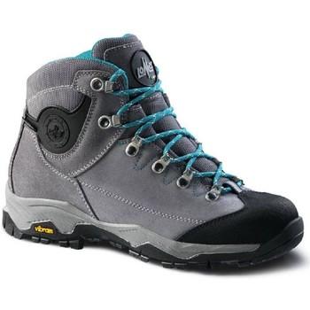 Scarpe Donna Sneakers alte Lomer Scarponcino alto Donna CRISTALLO II MTX SUEDE ASH COBALTO Grigio