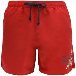 Abbigliamento Uomo Costume / Bermuda da spiaggia Emporio Armani EA7 Costume  uomo 902000 6P755 rosso Rosso