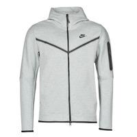 Abbigliamento Uomo Giacche sportive Nike M NSW TCH FLC HOODIE FZ WR Grigio / Nero
