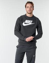 Abbigliamento Uomo Felpe Nike M NSW MODERN CRW FLC HBR Nero / Bianco