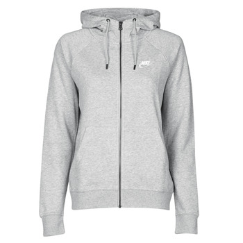 Abbigliamento Donna Felpe Nike W NSW ESSNTL HOODIE FZ FLC Grigio